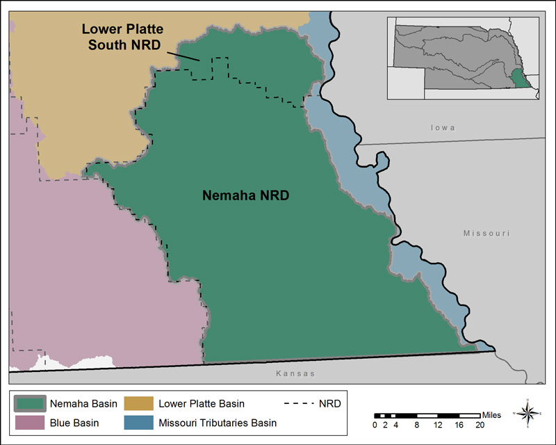 Nemaha Basin Map