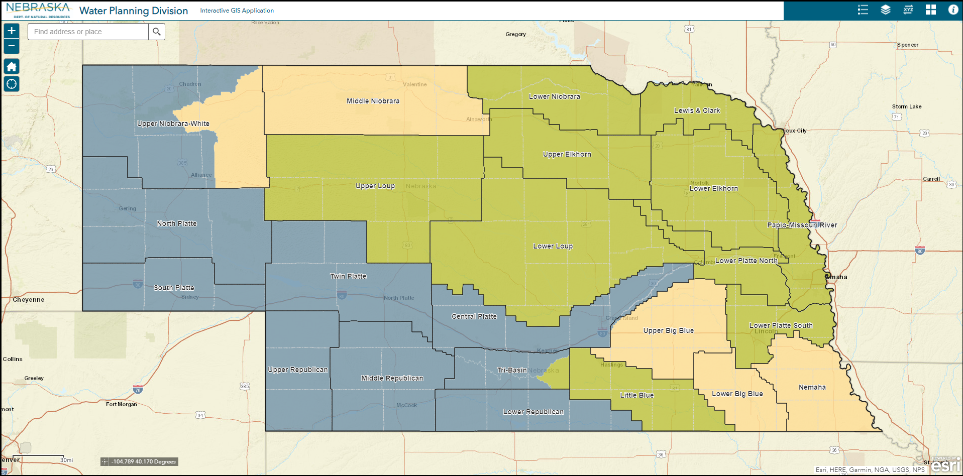 Water Planning General Interactive Map
