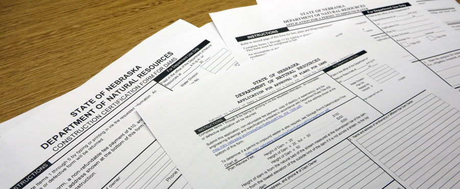 DNR forms laying on woodgrain table