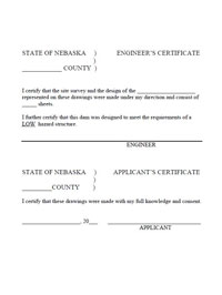 Certification for plans form