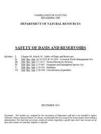 Rules for safety of dams and reserviors cover
